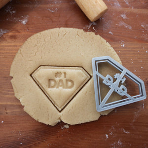 Diamond #1 Dad Cookie Cutter