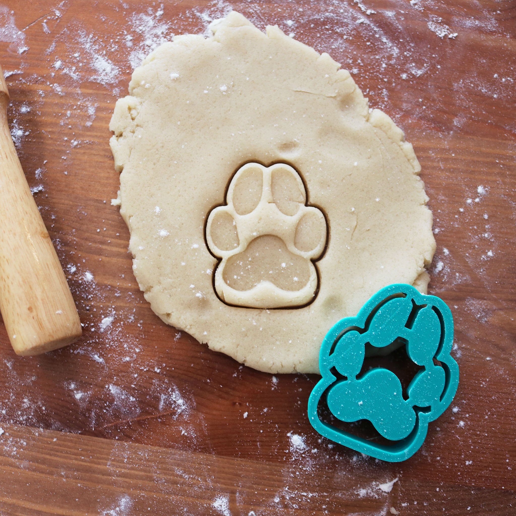 Dog Paw Print Cookie Cutter
