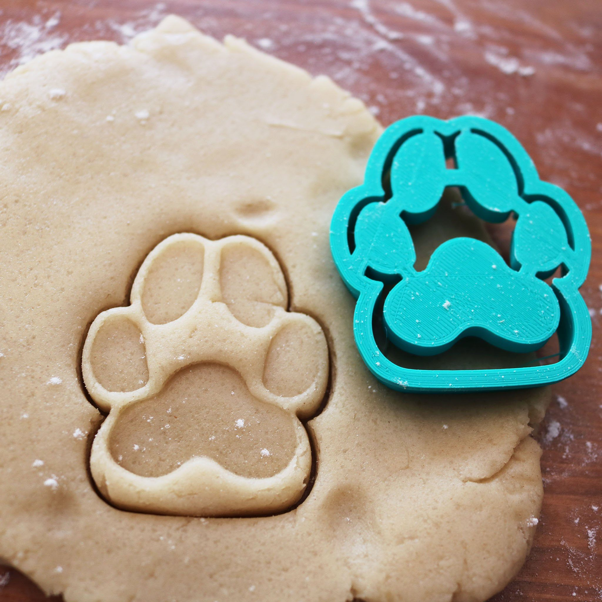 Animal Dog Paw Print Cookie Cutter