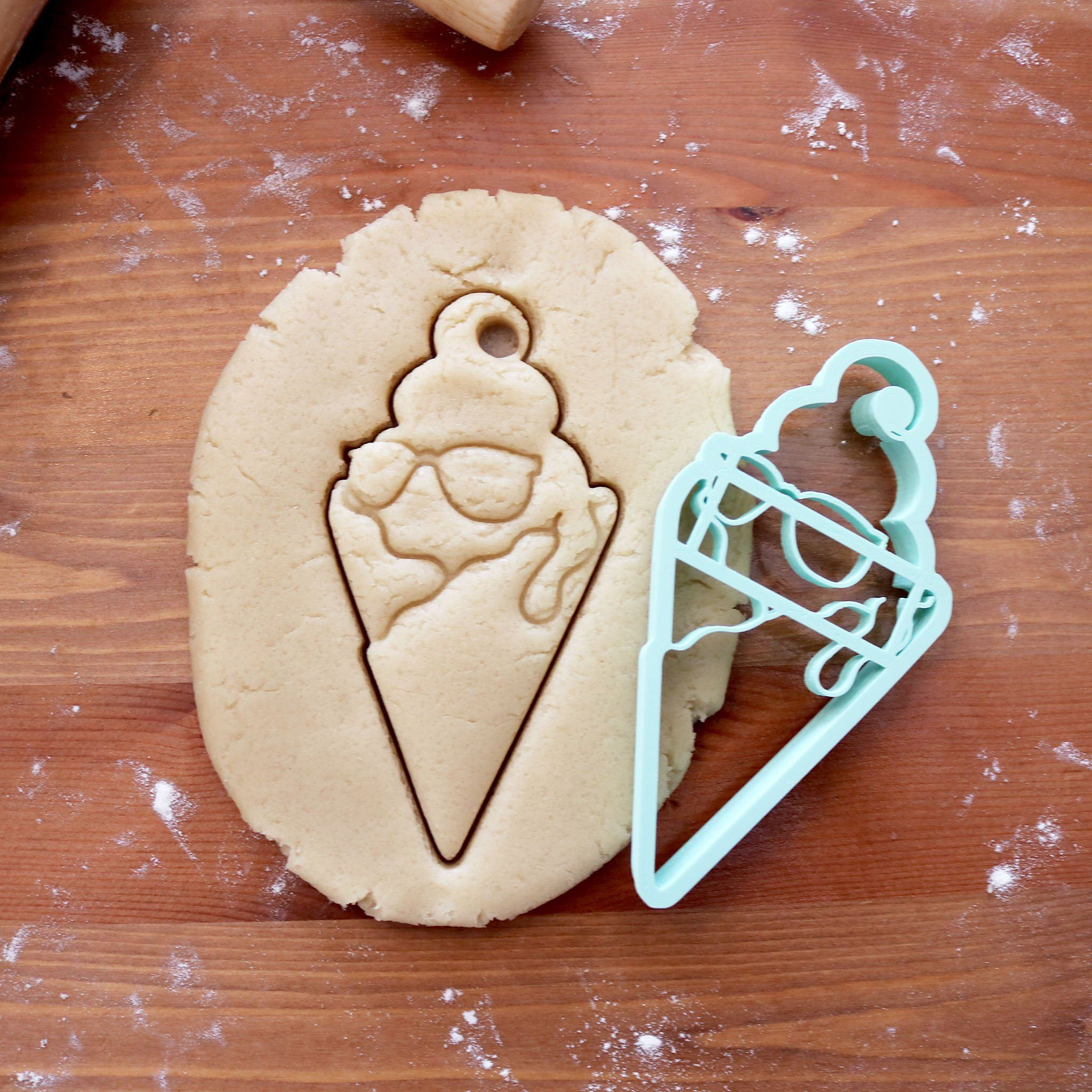 Shady Ice Cream Cone Cookie Cutter