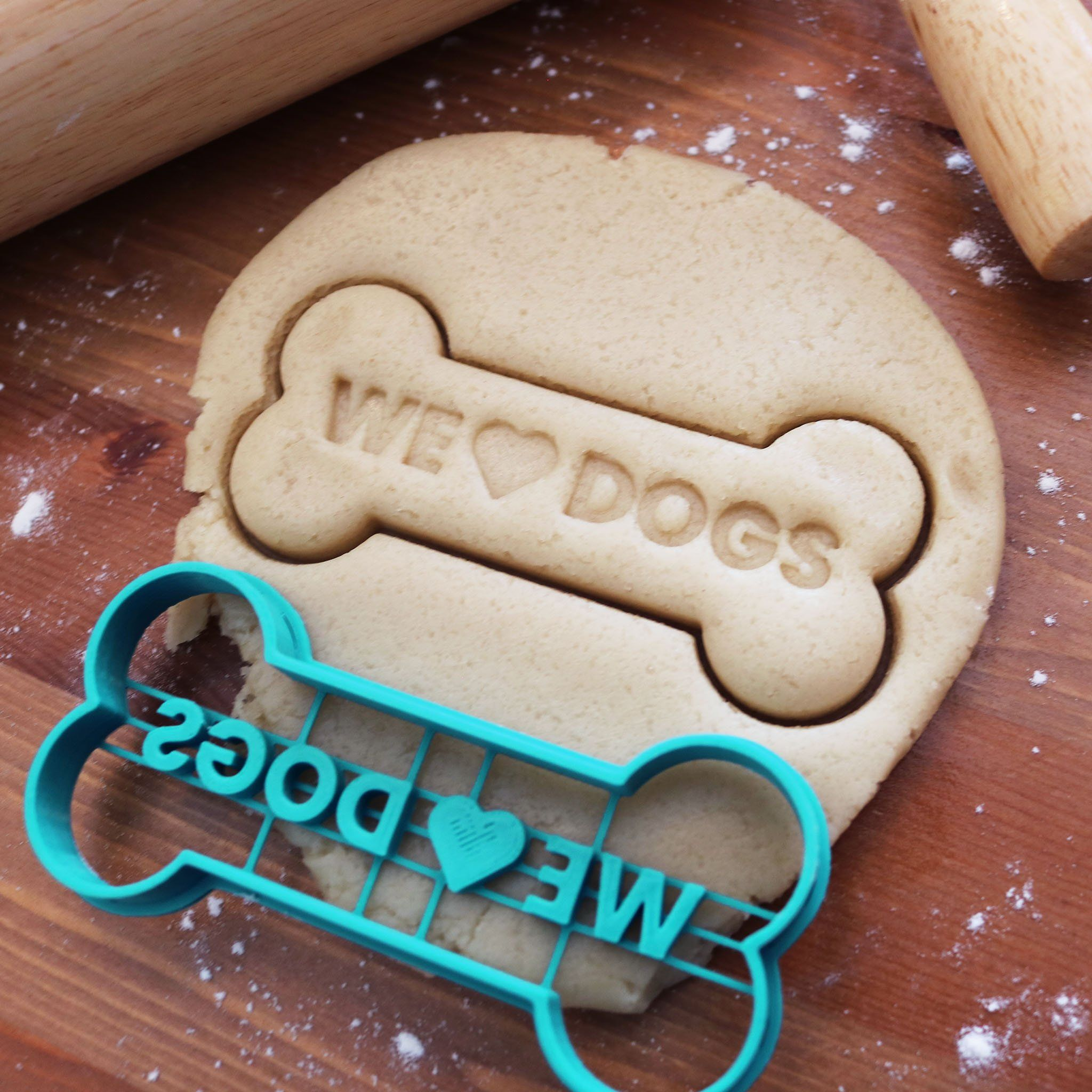 We Love Dog Bone Cookie Cutter