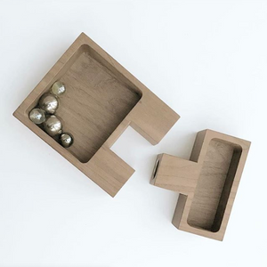 Join - Walnut - Candle holder & storage