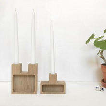 Load image into Gallery viewer, Join - Oak - Candle holder & storage