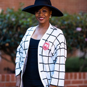 DST Black & White Cardigan