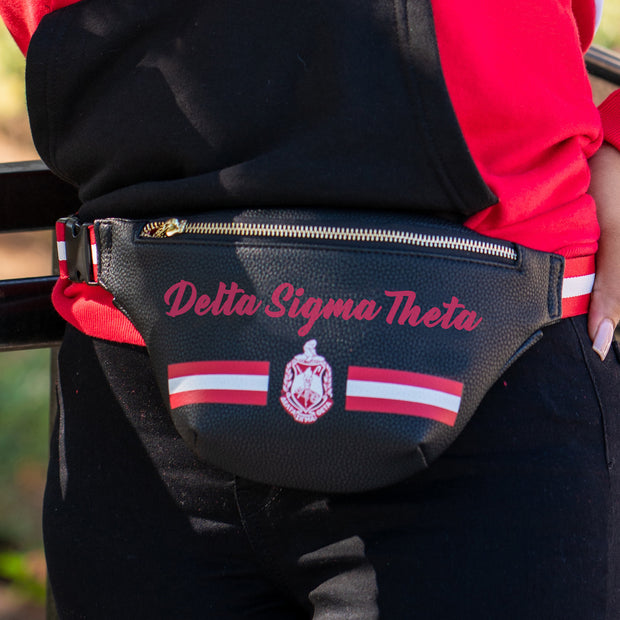 Printed Delta Belt Bag