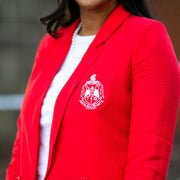 Red Boyfriend Blazer