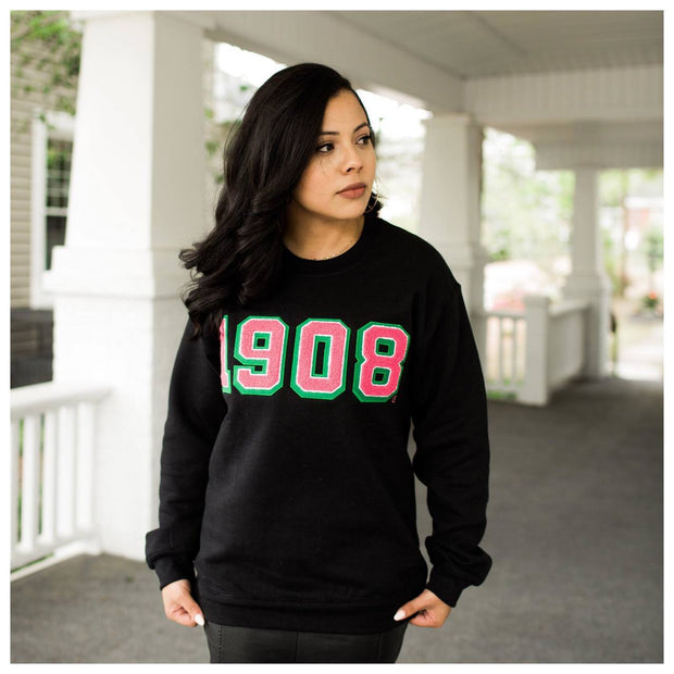 Black 1908 Sweatshirt (Unisex Sizing)