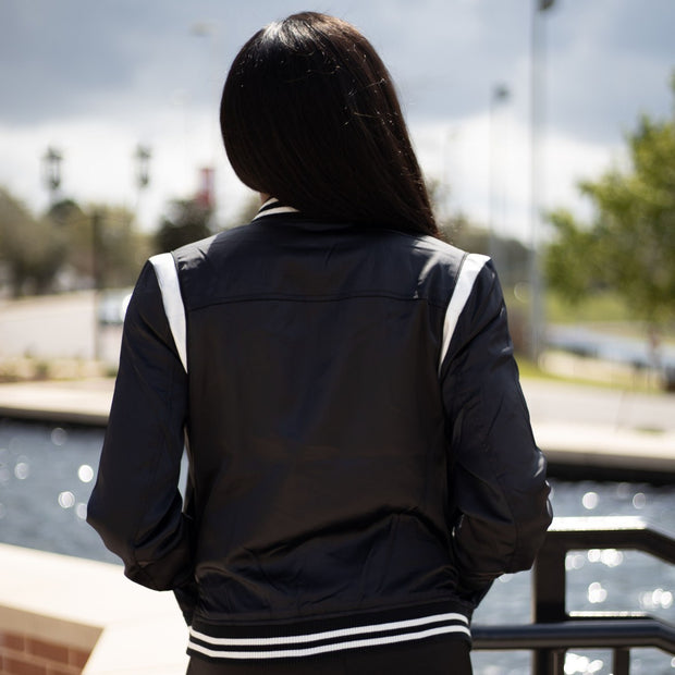 Pretty Girl Satin Bomber