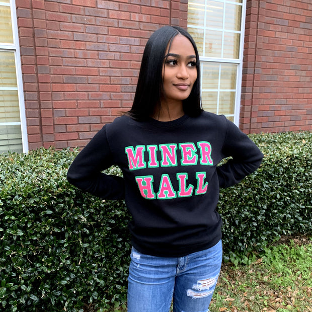 Black MINER Hall Sweatshirt (Unisex Sizing)