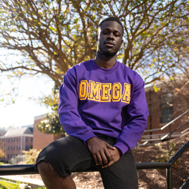 Purple Omega Sweatshirt