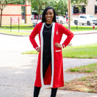 DST Long Red Cardigan