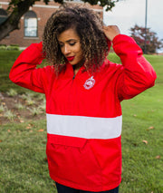 Red Color Block Pullover