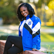 Blue and White Retro Windbreaker