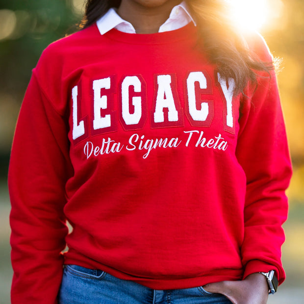 Red Legacy Sweatshirt (Unisex Sizing)