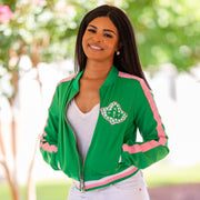 Green Retro Track Jacket