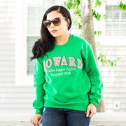 Homage Collection: Green HOWARD Sweatshirt (Unisex Sizing)