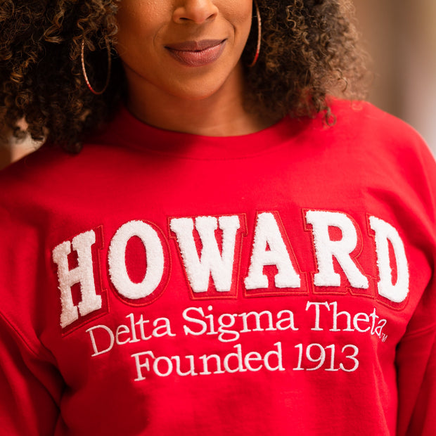Red HOWARD Sweatshirt (Unisex Sizing)
