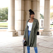 Olive Green Lightweight Trench
