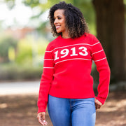 Red 1913 Retro Sweater