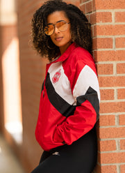 Red and White Retro Windbreaker