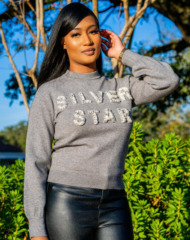AKA Silver Star Sweater