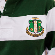 Green and White Vintage Rugby Pullover (Unisex Sizing)