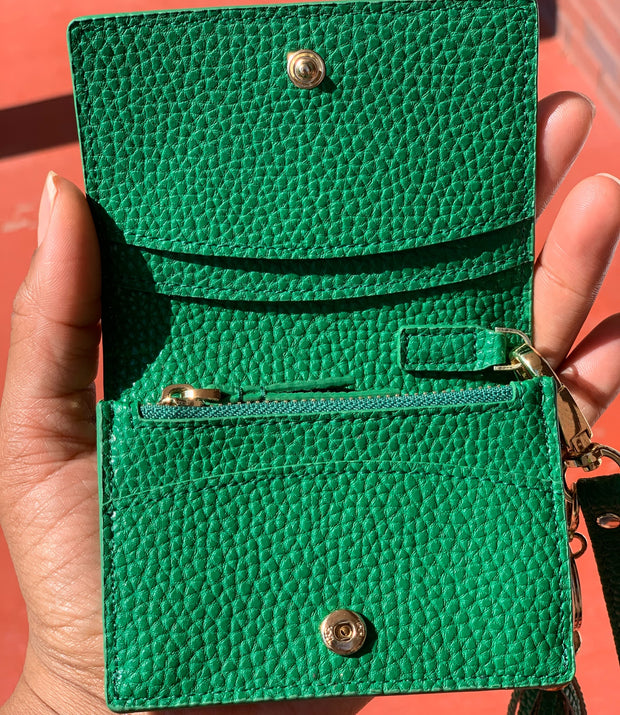 Gorgeous In Green Wristlet