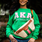 Pink and Green Canvas Belt Bag