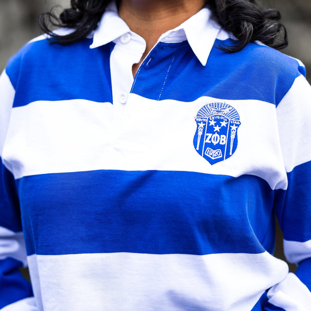 Blue & White Vintage Rugby Pullover (Unisex Sizing)