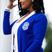 ZPHIB Long Blue Cardigan