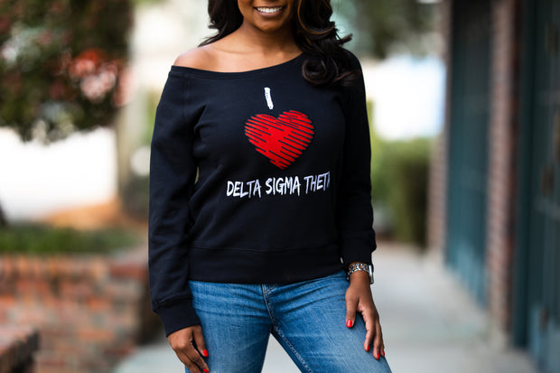 Diva Black Off the Shoulder Sweatshirt