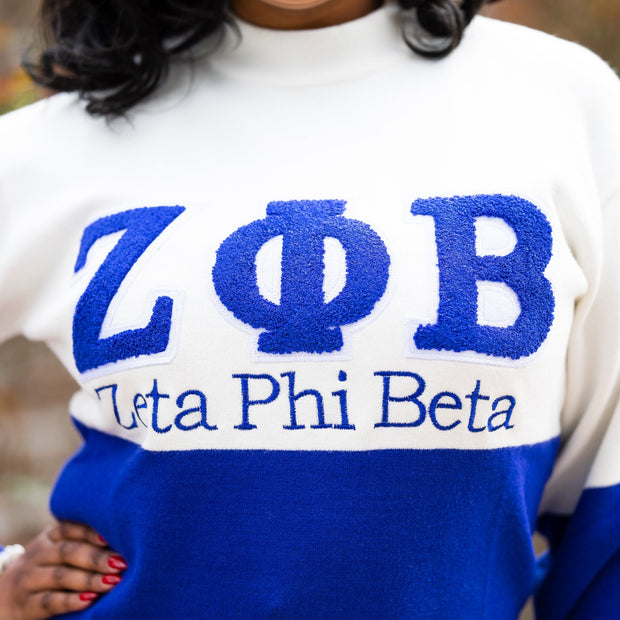 ZPhiB Color Block sweater