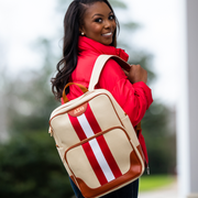 Red and White Canvas Back Pack