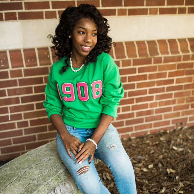 Green 1908 Sweatshirt (Unisex Sizing)