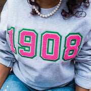 Grey 1908 Sweatshirt (Unisex Sizing)