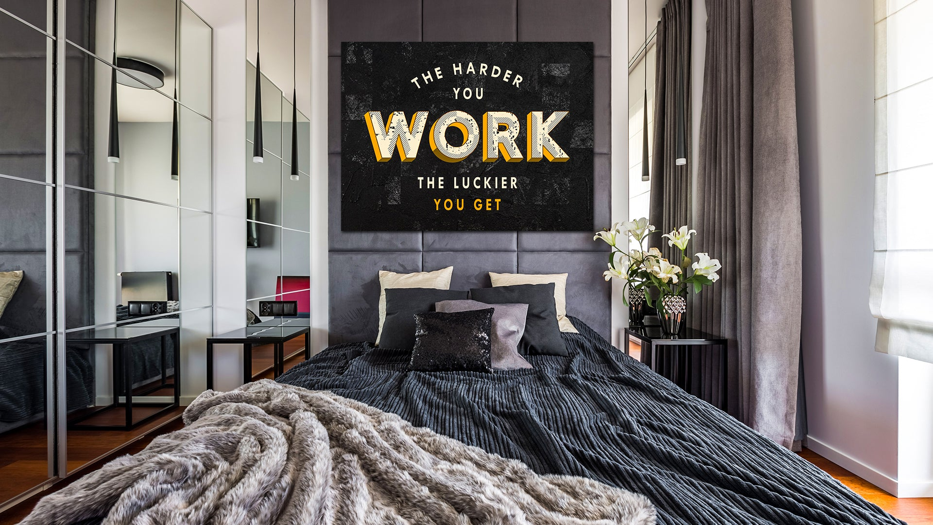 Work Hard Canvas Wall Arts