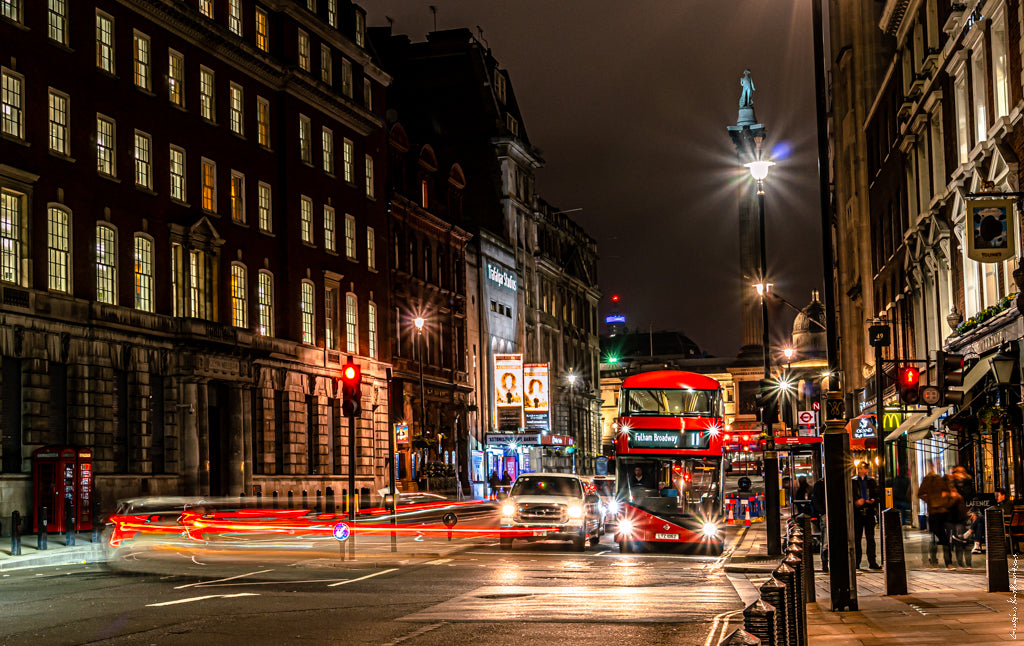 London, Photo print, Light trails, Cityscape