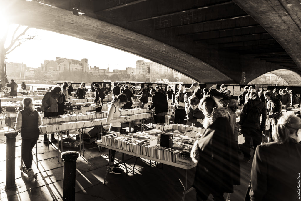 Southbank book market in London