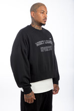 Load image into Gallery viewer, Mercy League Sports x Nike Black Cropped Crewneck
