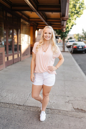 Stay Fancy Top In Blush