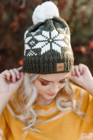 You Hat Me At Hello Olive And Cream Snowflake