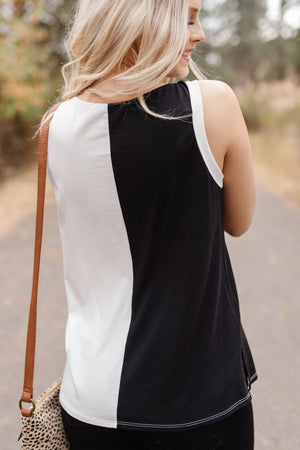 Ready Set Go Color Block Sleeveless Top