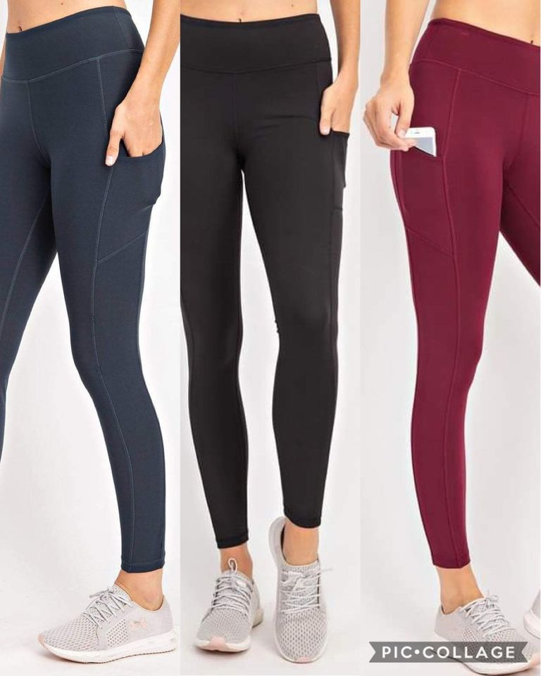 Full Length Compression Leggings with Pockets