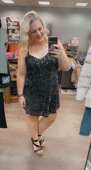 Sequins Of Events Lil' Black Dress