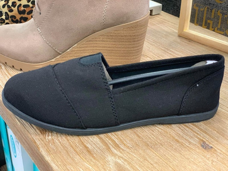 Solid Black TOM Inspired Shoes