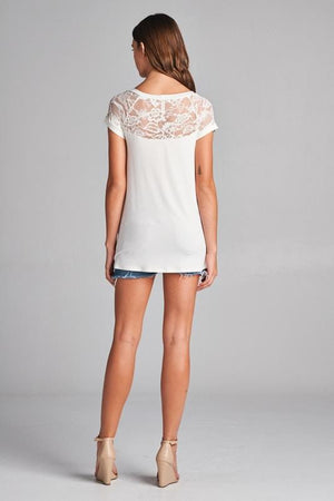 Lace Dreams Tunic in Ivory
