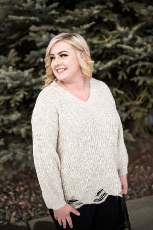 Oh What A Feeling Sweater In Heathered Oatmeal