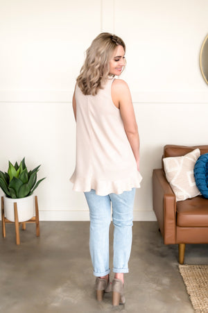 The Good One Sleeveless Top In Oatmeal