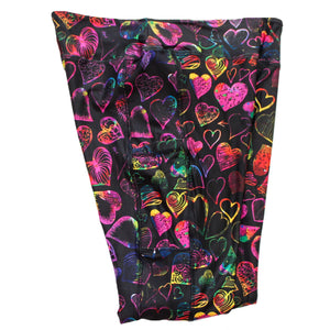 Doodle Hearts full length legging with pockets
