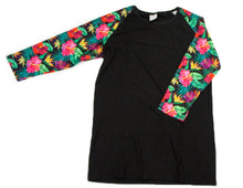 Load image into Gallery viewer, Whimsies brand hibiscus raglan